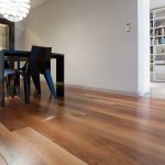 Stylish wood print laminate in dining room | Chantilly, VA