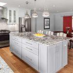 Hardwood floor & granite countertops in kitchen   Chantilly, VA