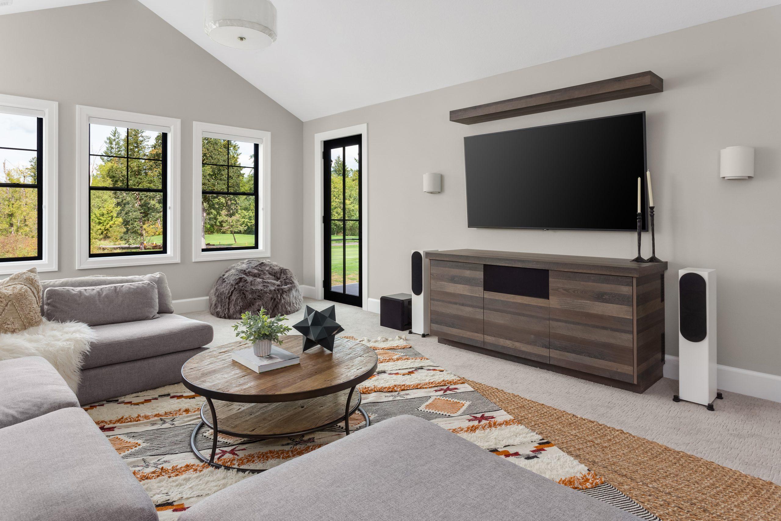 Carpet & Area Rugs in Entertainment Room | Chantilly, VA